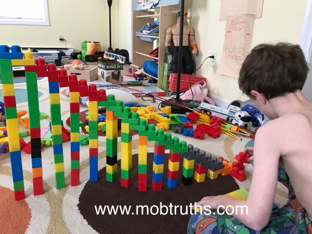 Building with blocks can be fun for all ages
