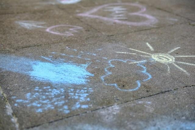 sidewalk chalk - a perfect summer boredom buster
