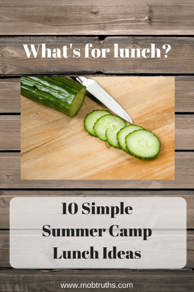 Easy summer camp lunches