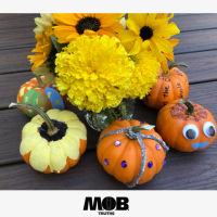 Bedazzled?  Sure, why not?  5 simple ways to decorate pumpkins
