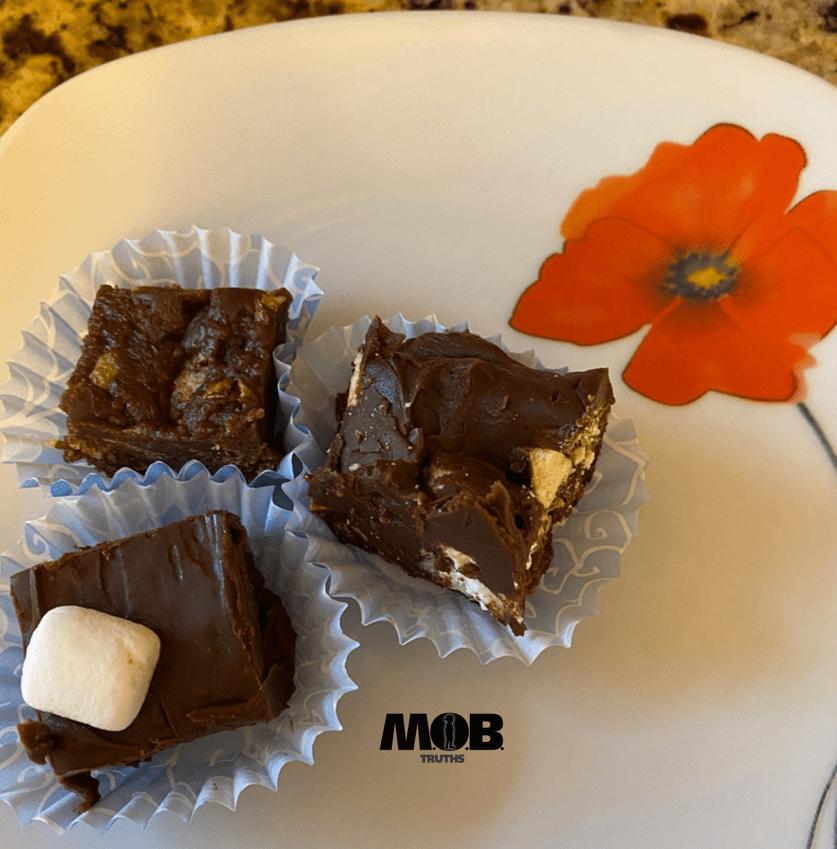 Easy fudge recipes.  Fun to make with kids.
