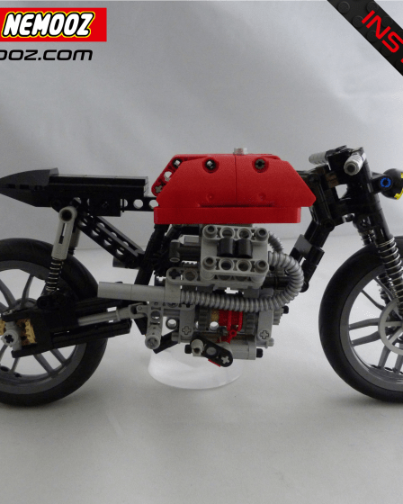 lego technic moto guzzi café racer