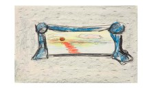 Untitled, 1976Crayon and pencil on paper, 11 x 14 inches (27.94 x 35.56 cm)Gift of Joan and Roger Sonnabend
