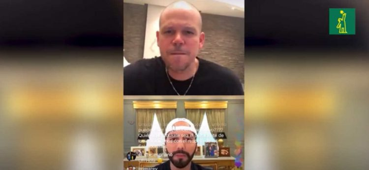 En Instagram, conversan René Calle 13 y Presidente del Salvador