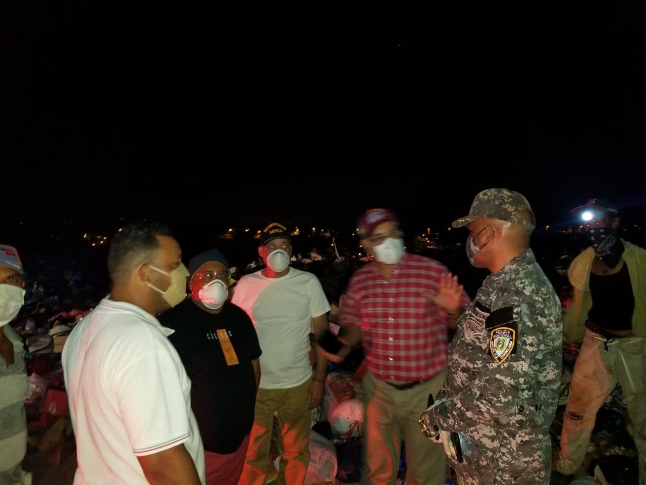 Incendio en el vertedero  Municipal de Moca