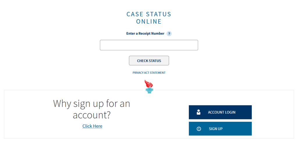check your uscis case department of homeland security