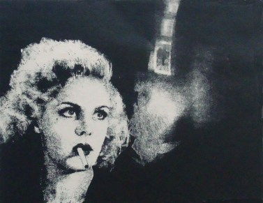 An exhbition of paintings, etchings and lithographs by Ann Chernow - inspired by film noir movies from the 1940s - is on view at Stamford's PMW Gallery through June 21.