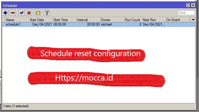 schedule reset mikrotik display