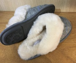 Ladies Harris Tweed Slippers