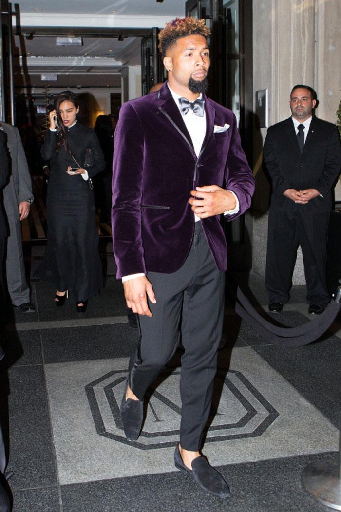 Odell Beckham Jr Wears A Custom Designed HampM Outfit At