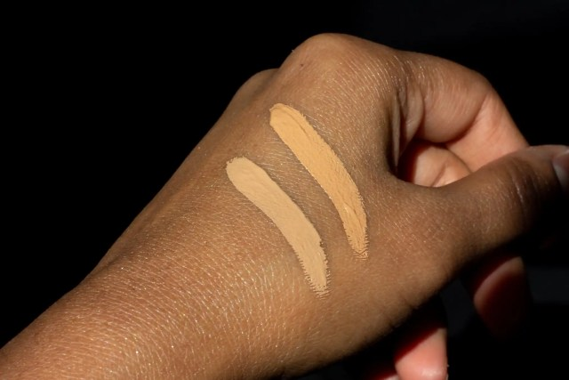 Ilia Concealer swatches on hand