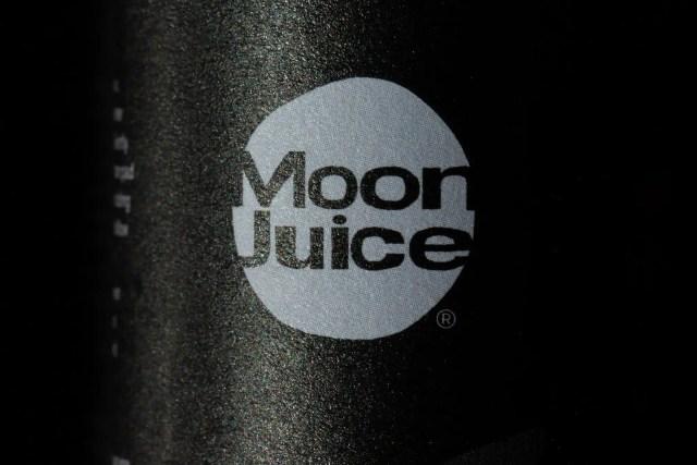 Moon Juice logo macro shot