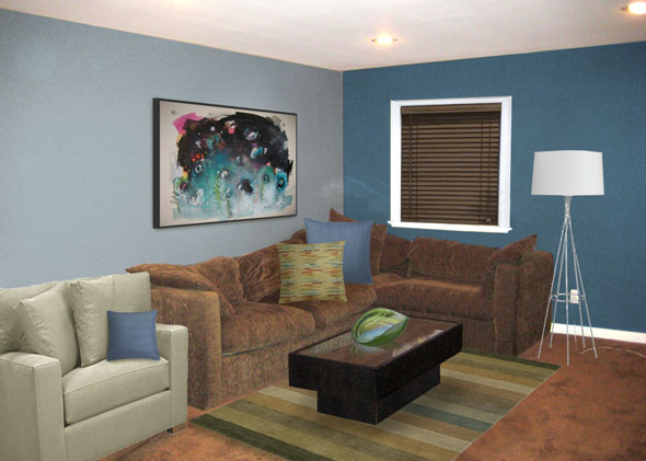 Putting The Quot Great Quot In A Basic Brown Great Room Mochi