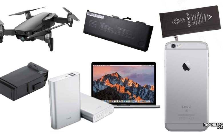 baterias prohibidas en vuelos, powerbank macbook