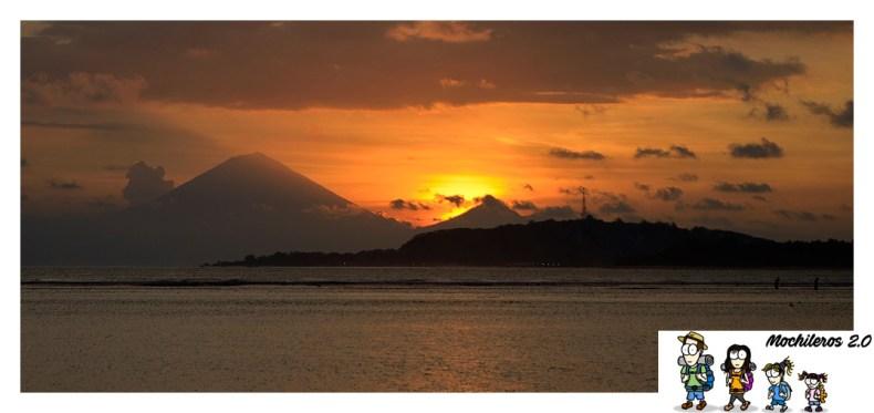 atardecer volcanes gili
