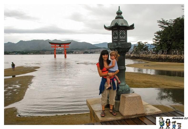 torii en el agua miyajima