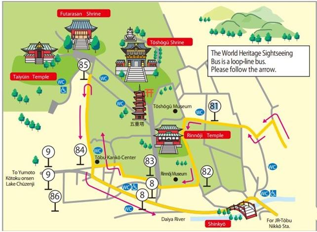 world-heritage sightseeing bus nikko