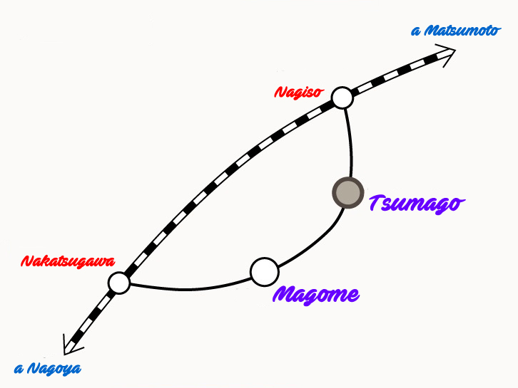 mapa tsumago magome