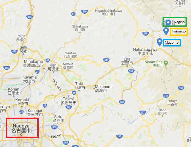 tsumago magome mapa tren