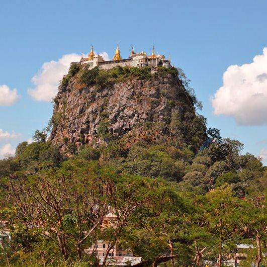 Que ver Bagan Myanmar monte popa