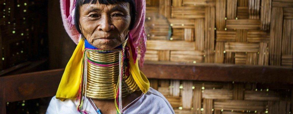 Myanmar-Mujer-Girafa-Inle-Lake-Birmania