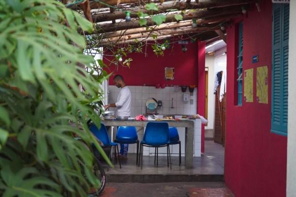 Ô de Casa Hostel cocina