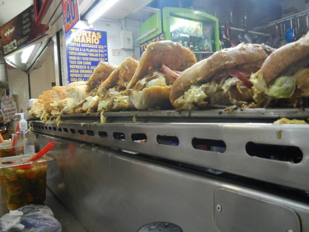 Mexico en bicicleta comida tortas