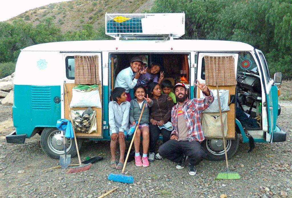 viajar en furgoneta Combi con chicos