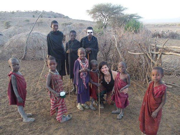viaje por África en solitario Masai