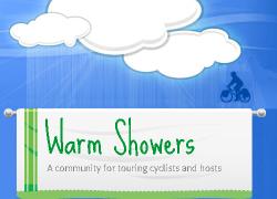 Warm Showers, alojamiento para ciclistas alrededor del mundo