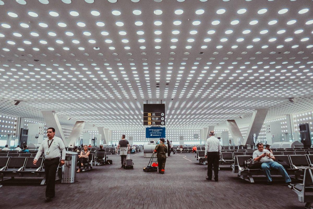 Sala del aeropuerto internacional de Ciudad de México