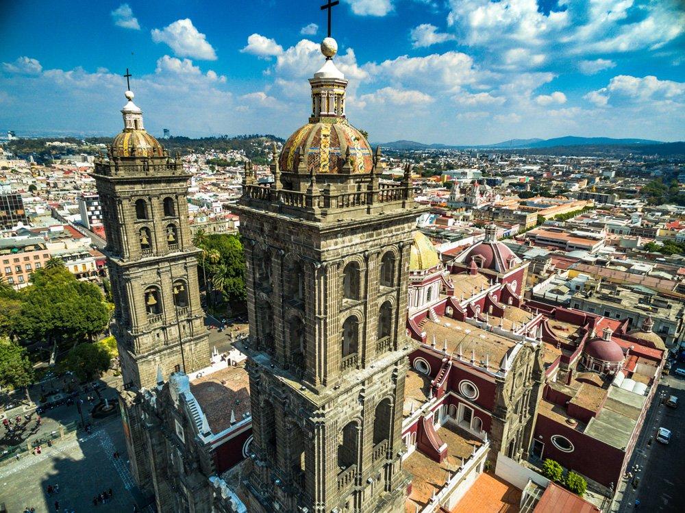 Catedral de Puebla, una de las excursiones cerca de Ciudad de México