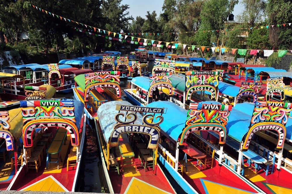 Xochimilco, una de las excursiones cerca de Ciudad de México