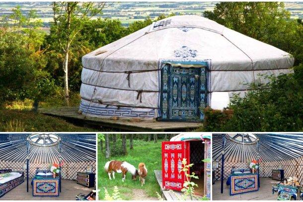 Glamping, yurta de Mongolia