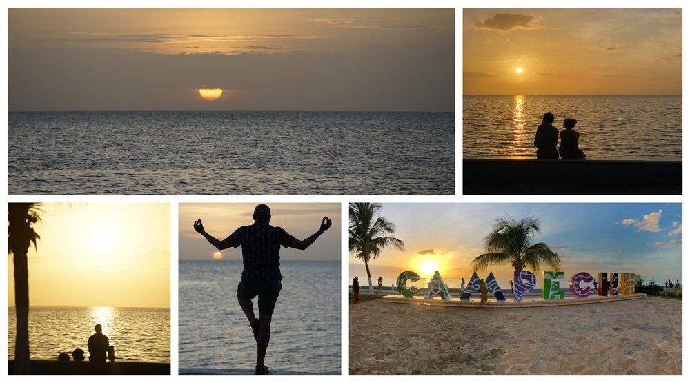 Que ver en Campeche, el atardecer en el malecón
