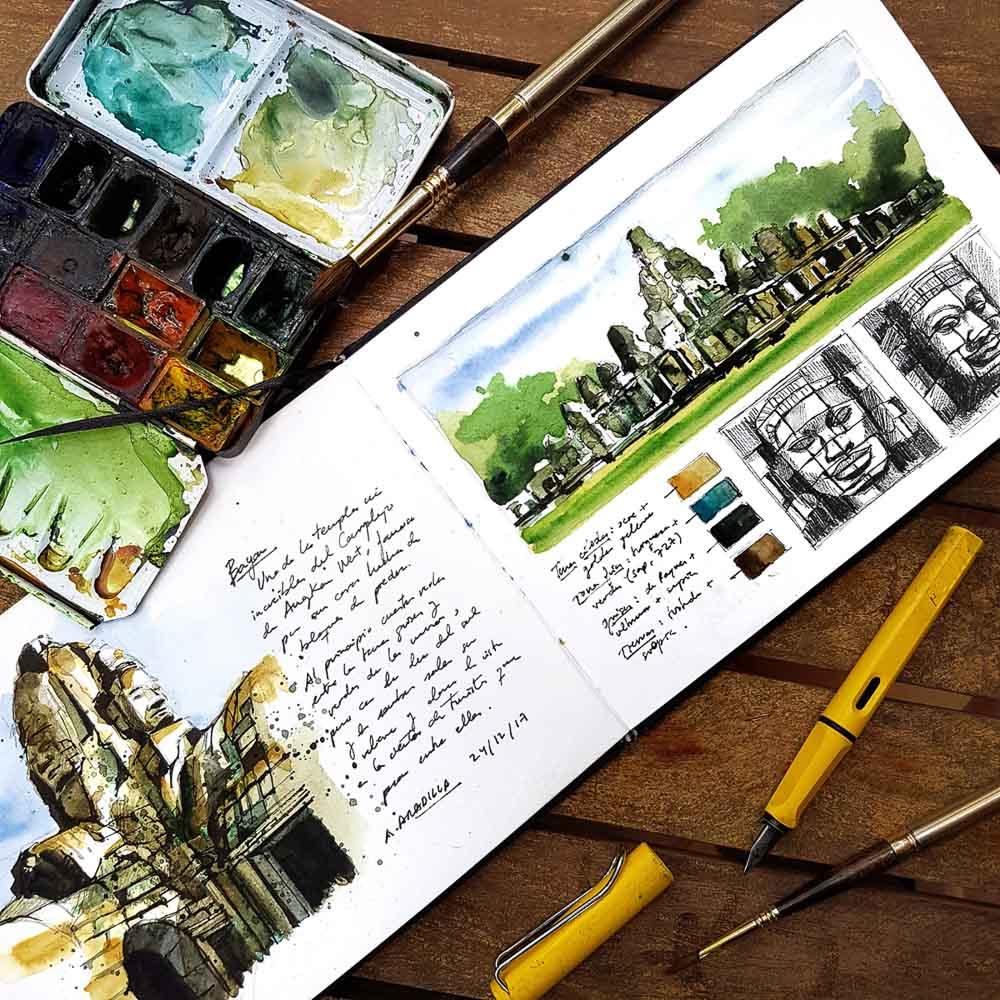 Cuaderno de viaje con ilustraciones de Alicia Aradilla