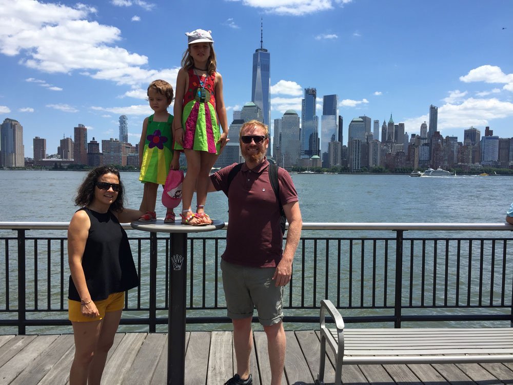 Bram, Cristina, Gabi y Julia en Nueva York