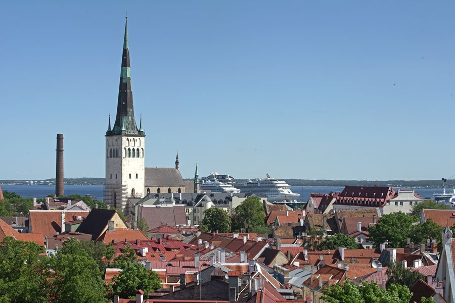 Panorámica de Tallin, capital de Estonia