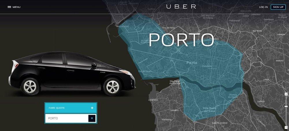 cómo llegar desde el aeropuerto de Oporto en Uber