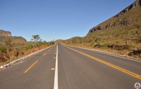 Estrada GO-239, entre Alto Paraíso e São Jorge