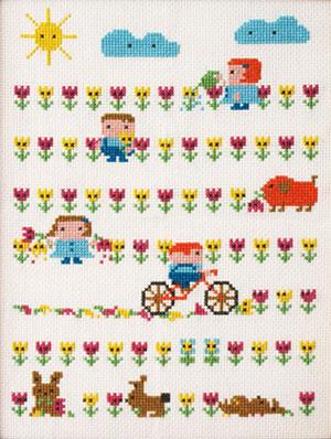 Merry Meadow Cross-Stitch