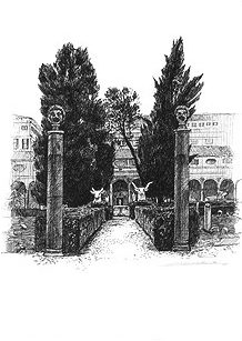 Roma・ミケランジェロの回廊 / 画 望月麻里 illustrated by (C) Mari Mochizuki.