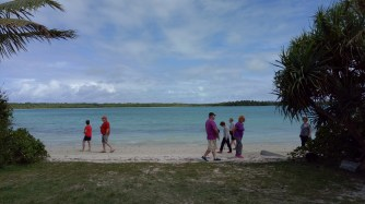 Guests chilled out for a bit on the Vao tribe bay view