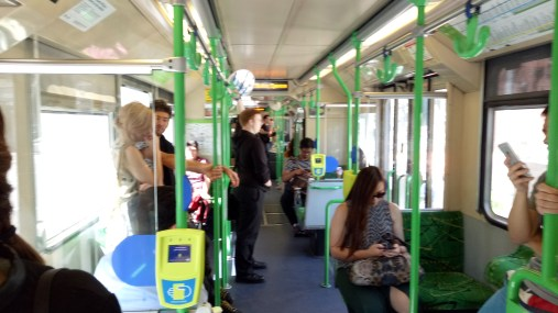 This how its looks like inside the tram