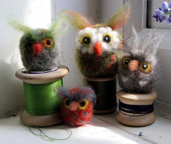 Felt Owls © Jan Lane