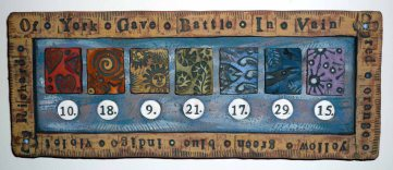 Ceramic Tile Wall Piece © Jan Lane