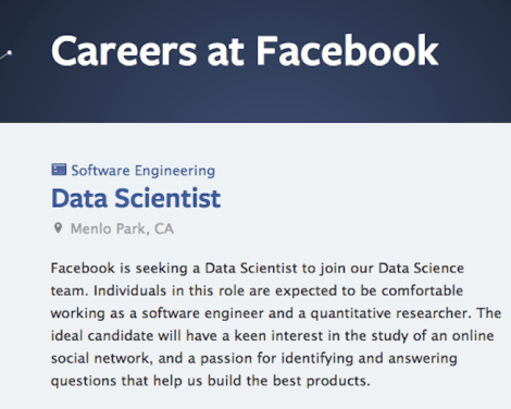 facebook data scientist