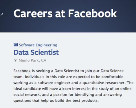 facebook data scientist