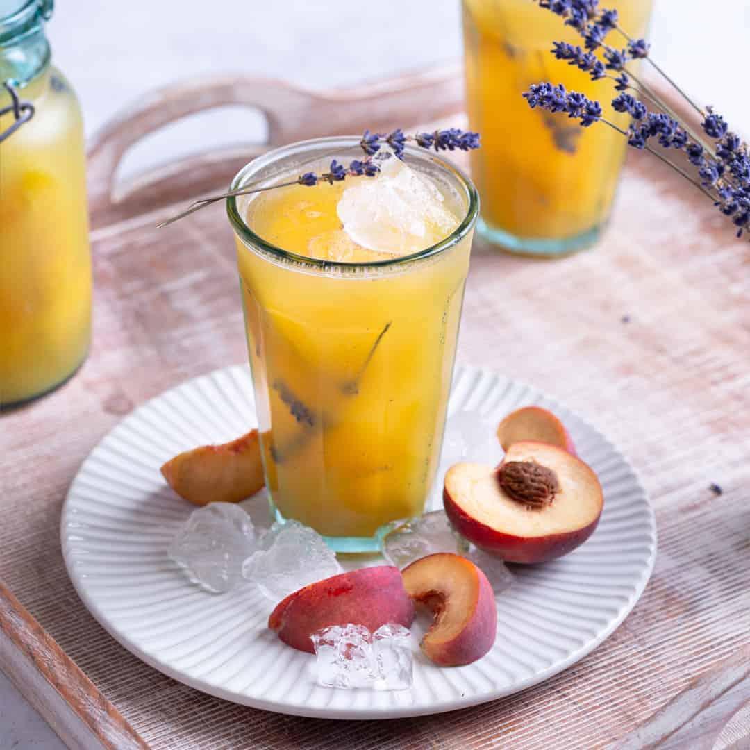 Peach Lavender Agua Fresca