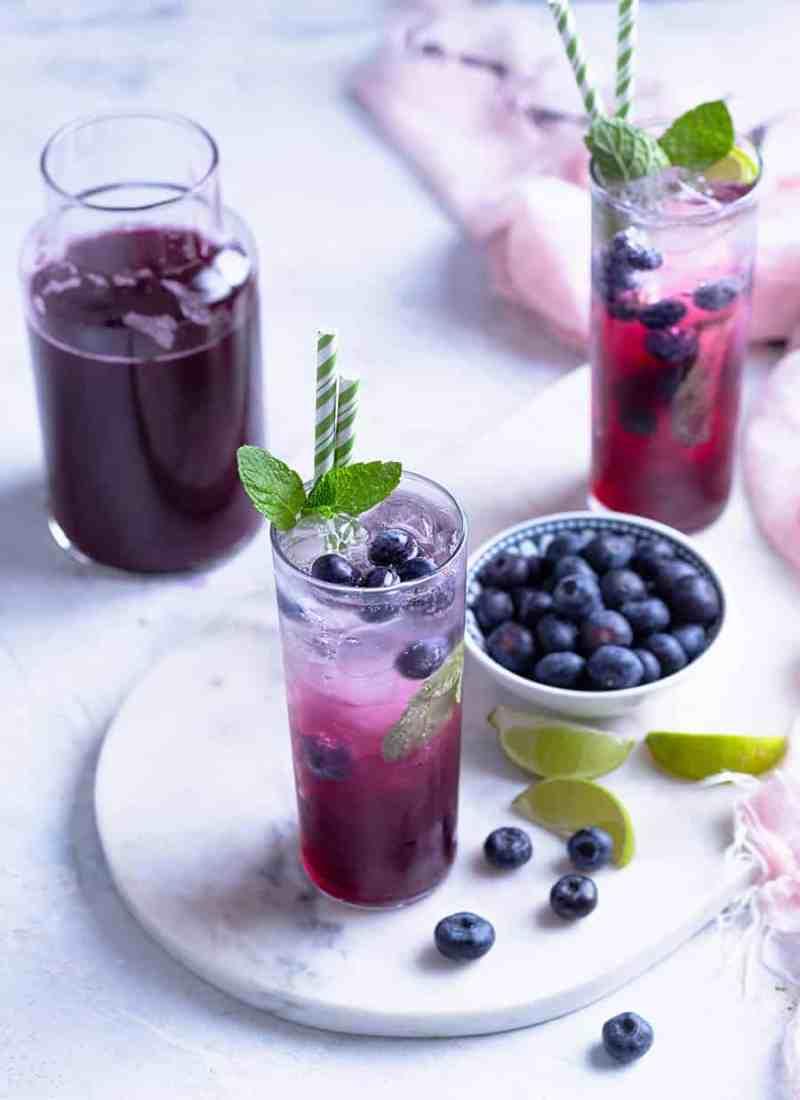 Blueberry Ginger Refresher - Fruit Refreshers Recipe Online - Easy Drinks Recipes